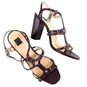EUC White House Black Market leather sandals